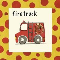 Firetruck with Border Fine Art Print