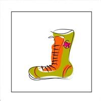 Green and Orange Boot Fine Art Print