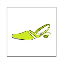 Green Sandal 1 Fine Art Print