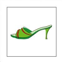 Green Sandal 2 Fine Art Print