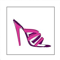 Pink High Heel Sandal Framed Print