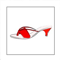 Red Sandal Fine Art Print
