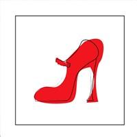 Red Shoe Fine Art Print