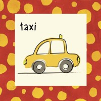 Taxi with Border Fine Art Print