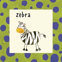 Zebra with Border Fine Art Print
