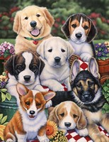 Garden Puppies Fine Art Print