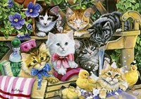Bathtime Kittens Fine Art Print