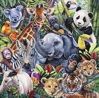 Jungle Babies Fine Art Print