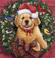 Christmas Puppy Fine Art Print