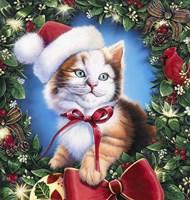 Christmas Kitty Fine Art Print