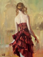 Girl in A Copper Dress 2 Framed Print