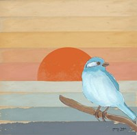 Blue Bird By Water Fine Art Print