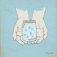 Jar Of Wishes Blue Fine Art Print