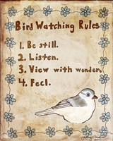 Bird Watching Rules Framed Print