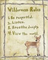 Wilderness Rules Framed Print