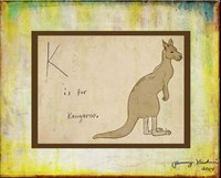 K is For Kangaroo Fine Art Print