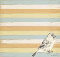 Bird Stripes Framed Print