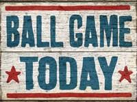 Ball Game Today Fine Art Print