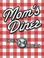 Moms Diner Red Checkered Fine Art Print