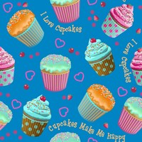 Cupcake Blue Fine Art Print