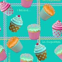 Cupcake Turquoise Fine Art Print