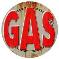 Gas Distressed Fine Art Print