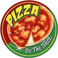 Pizza By Slice Round Fine Art Print