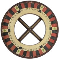 Gambling Wheel - Red Black 1 Fine Art Print