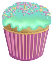 Vanilla Cupcake Blue Fine Art Print