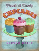 Cupcakes Retro Fresh Framed Print