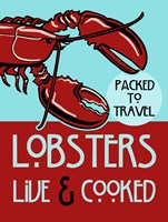 Lobsters Live Cooked Fine Art Print