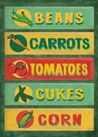 Farm Stand Board - Veggies Fine Art Print