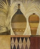 African Vases I Framed Print
