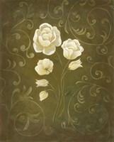 White Flower and Buds I Framed Print