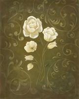 White Flower and Buds I Fine Art Print