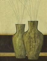 Green Vases I Framed Print