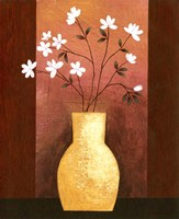 Jug Floor Vase On Burgundy Fine Art Print