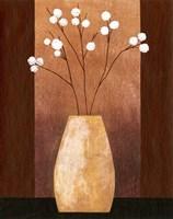 Pot Floor Vase On Burgundy Fine Art Print