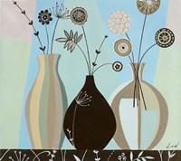 Vase Trio I Framed Print