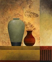 Pair of Vases II Framed Print
