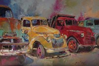 Trucks In Montrose Fine Art Print