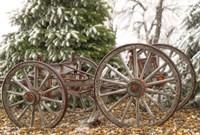 Wagon in Winter Fine Art Print