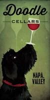 Doodle Wine II Black Dog Fine Art Print