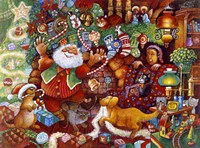Santa Rejoicing Fine Art Print