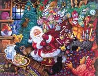 Santa Arrives Fine Art Print