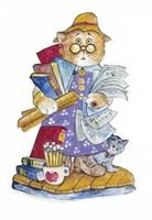 Teacher Cat Fine Art Print