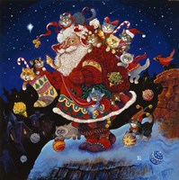 Here Comes Santa Claus Fine Art Print