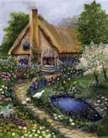Best Old Cottage Fine Art Print