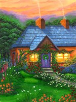 Rose Cottage Fine Art Print