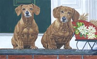 Christmas Dogs Fine Art Print